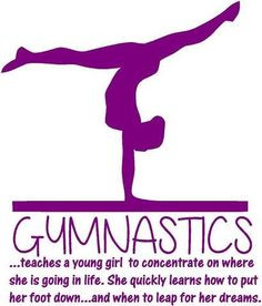Teaching Gymnastics Quote - Teaching a Young Girl | Vinyl Wall Sticker ...