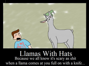 Llamas with Hats ftw by K1ttkat