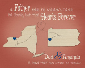 Birthday Present for Dad, Step-Dad Gift, Father Daughter Quote ...