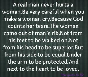 real man...