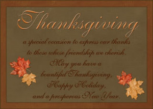 Thanksgiving Greeting Card Quotes