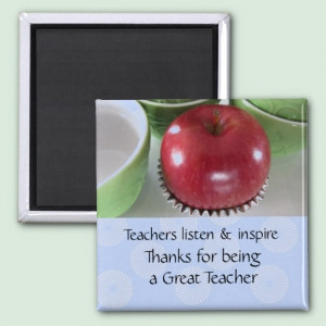Apple for the Teacher Magnet with nice message $3.80