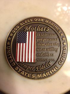 marine mom inspiration quotes | My Marine Mom Challenge Coin. More