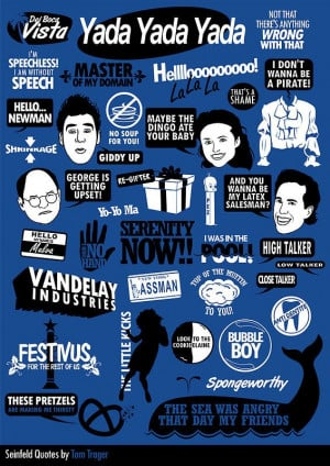 Seinfeld. Love this :) they're missing our fave George quote though ...