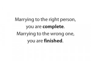 3Marrying to the right person quote