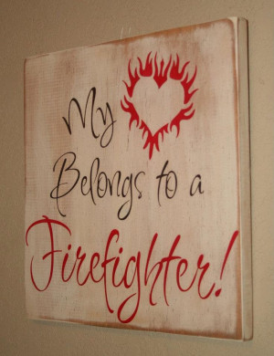 Firefighter Wife Wall Art, Firefighter Decor, Distressed Wall Decor ...