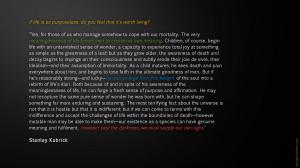 Stanley Kubrick - Quote