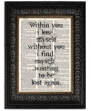 Love Quote Print WITHIN YOU I Find Myself Quote by Vintagraphy, $10.00