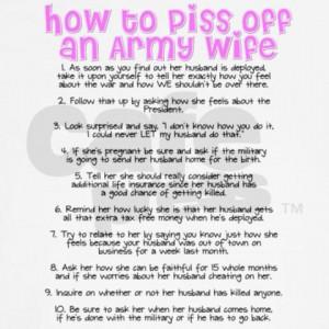 army wife stuff