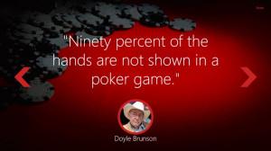 Radical Poker Quotes screen shot 1