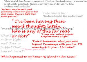 Kingdom Hearts Quotes Sora Kingdom hearts quotes by