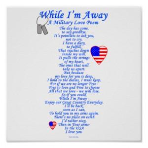 Military Love Poem Print
