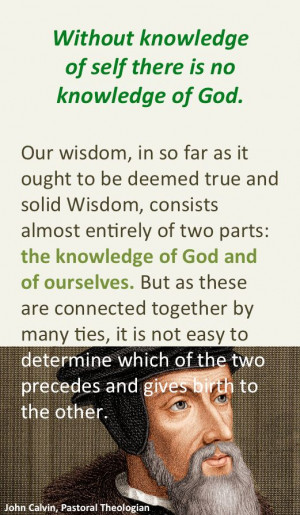 John Calvin on true wisdom