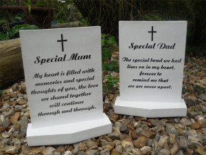 Grave-Memorial-Plaque-Special-Mum-Dad-White-Cross-Verse-Ornament-Gift ...