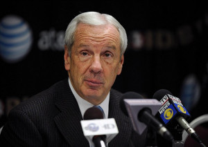 Tallahassee, FL, USA; North Carolina Tar Heels head coach Roy Williams ...