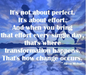Not being perfect!