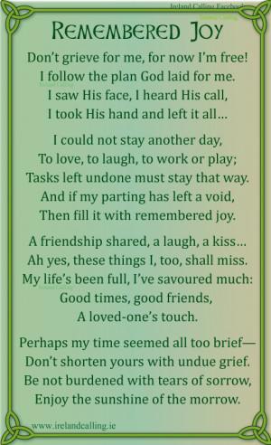 ireland irish love poems