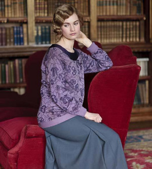Lily James as Lady Rose in Downton Abbey.Source: PBS