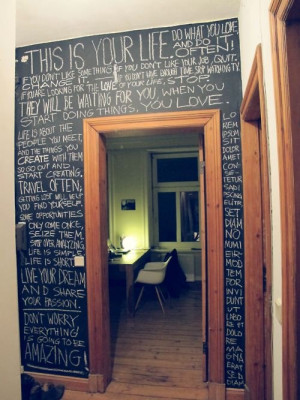 wall full of quotes. - sooo happening!