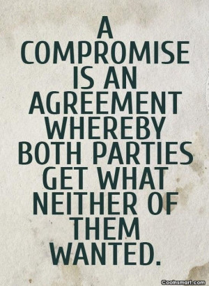 Funny compromise quote