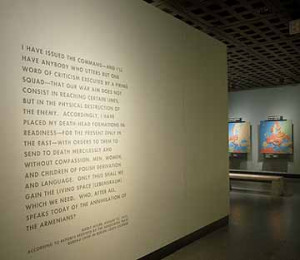 Hitler quote displayed in the Holocaust Museum