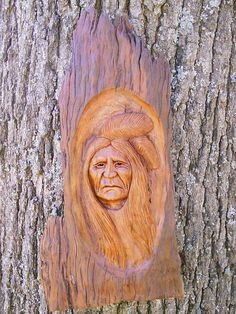 Native American Indian Wood Carvings | ... Wood Crafts | Garden Guides ...