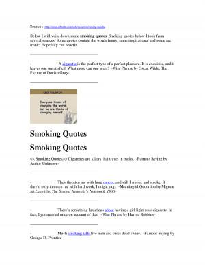Smoking Quotes - Funny & Interesting by SugengHartono