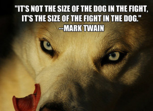 ... Size Of The Dog In The Fight, But The Size Of The Fight In The Dog