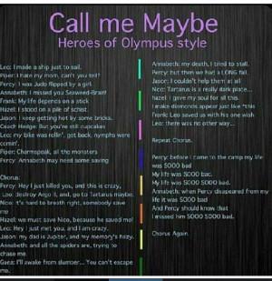 The Heroes of Olympus call me maybe heroes of olympus style