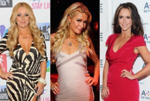 Aubrey O'Day, Paris Hilton, Jennifer Love Hewitt via Getty Images