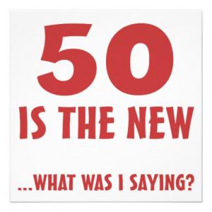 Funny 50th Birthday Gag Gifts Invitations - Zazzle.com.au