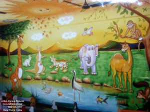 3d wall painting for play schools