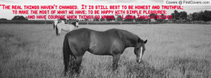 Horse and quote Profile Facebook Covers