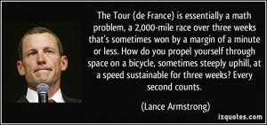 The Tour (de France) is essentially a math problem, a 2,000-mile race ...