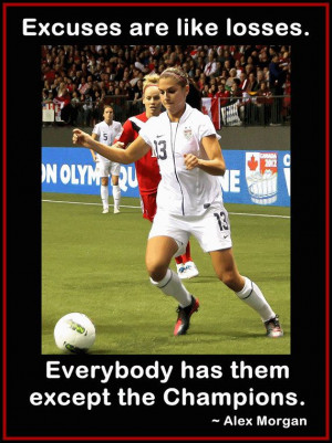 Soccer Poster Alex Morgan Photo Quote Wall Art Print 8x11