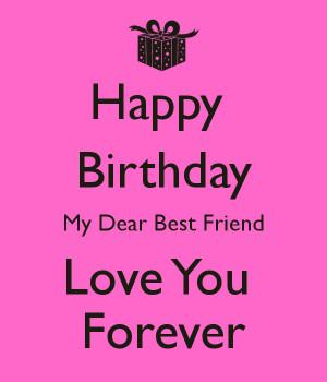 Happy Birthday My Dear Best