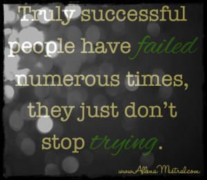 Just keep trying!