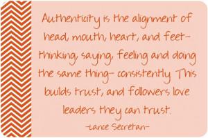 Quotes by Lance Secretan