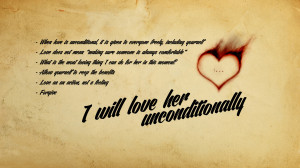 Unconditional love wallpaper