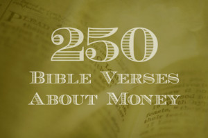Bible Verses About Giving Money