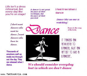 Tattoo Dance Quotes Funny About Passion Picture