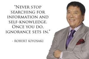 Ignorance, quotes, sayings, self knowledge, robert kiyosaki