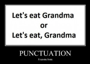 Persnickety about punctuation