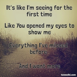 Seeing for the First Time by Britt Nicole