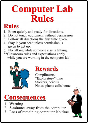 Computer Lab Rules Poster Kentbaby Picture