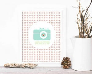 Camera Quote Typography Capturing Memories by hairbrainedschemes, $15 ...