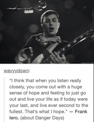 Frank Iero | Quote Frank Iero, Band Things, Band Stuff, My Chemical ...