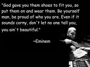 eminem, quote, beatiful, god
