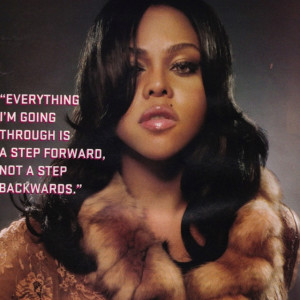 2005 lil kim poster with quote