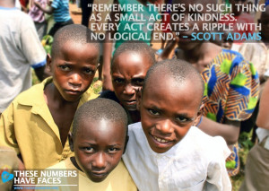 "... kindness. Every act creates a ripple with no logical end."" - Scott"